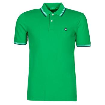 Clothing Men Short-sleeved polo shirts Benetton 3WG9J3181-108 Green