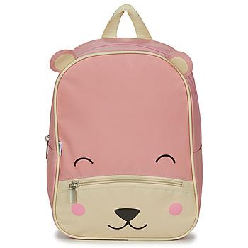 Bags Children Rucksacks Citrouille et Compagnie BEAR PINK Pink / Beige