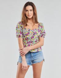 Clothing Women Tops / Blouses Yurban OPEET White / Multicolour