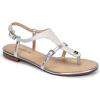 Shoes Women Sandals JB Martin GAELIA White / Silver