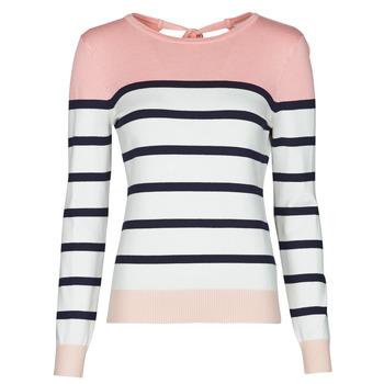 Clothing Women Jumpers Betty London ORALI Pink / Ecru
