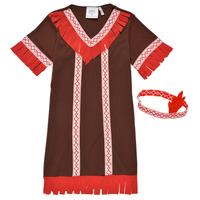 Clothing Girl Fancy Dress Fun Costumes COSTUME ENFANT INDIENNE FOX KITTEN Multicolour