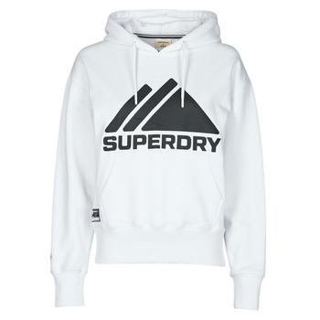Clothing Women Sweaters Superdry MOUNTAIN SPORT MONO HOOD White