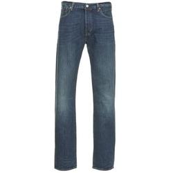 Clothing Men straight jeans Levi's 501 THE ORIGINAL Blue / Dark
