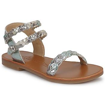 Shoes Girl Sandals Pom d'Api KOH BI WOVEN Camouflage / Glitter