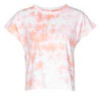 Clothing Women Short-sleeved t-shirts Yurban ONILA White / Pink