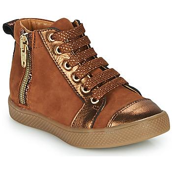 Shoes Girl Hi top trainers GBB SAVIA Brown