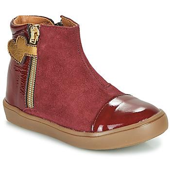 Shoes Girl Mid boots GBB OKITA Bordeaux