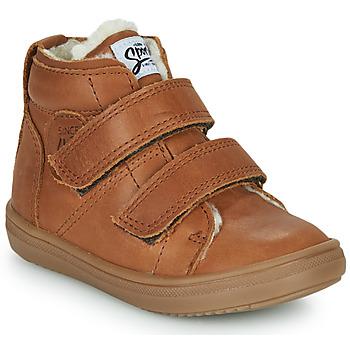 Shoes Boy Hi top trainers GBB DIEGGO Brown