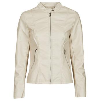 Clothing Women Leather jackets / Imitation leather Only ONLMELISA Beige