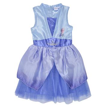 Clothing Girl Short Dresses TEAM HEROES  FROZEN DRESS Blue