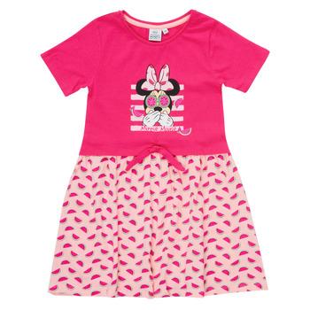 Clothing Girl Short Dresses TEAM HEROES  MINNIE DRESS Pink