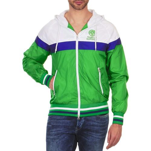 Clothing Men Jackets Franklin & Marshall MELBOURNE Green / White / Blue
