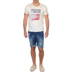 Clothing Men Shorts / Bermudas Freeman T.Porter DADECI SHORT DENIM Blue