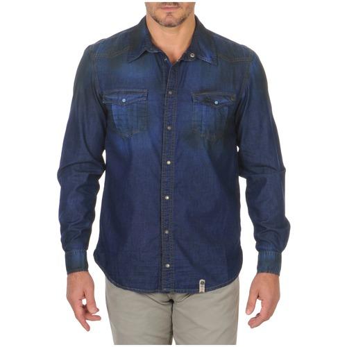 Clothing Men Long-sleeved shirts Freeman T.Porter CORWEND DENIM Blue