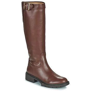 Shoes Women High boots Coach LEIGH Cognac