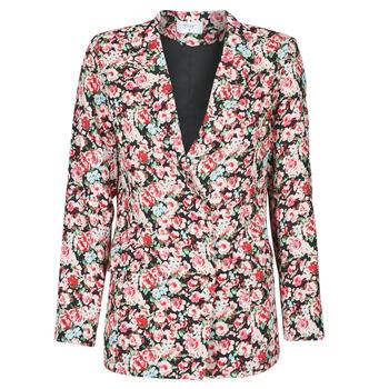 Clothing Women Jackets / Blazers Betty London OBIMBA Black / Pink