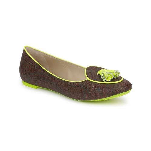 Shoes Women Flat shoes Etro BALLERINE 3738 Brown / Green