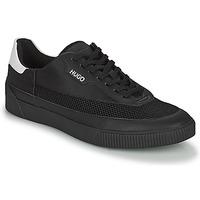Shoes Men Low top trainers HUGO ZERO TENN Black