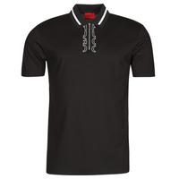 Clothing Men Short-sleeved polo shirts HUGO DOLMAR Black / White