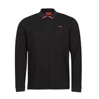 Clothing Men Long-sleeved polo shirts HUGO DONOL Black