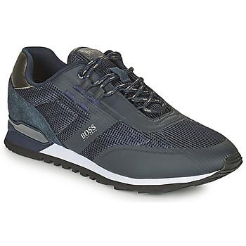 Shoes Men Low top trainers BOSS PARKOUR RUNN ME Marine