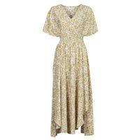 Clothing Women Long Dresses Betty London ONINA Yellow / White