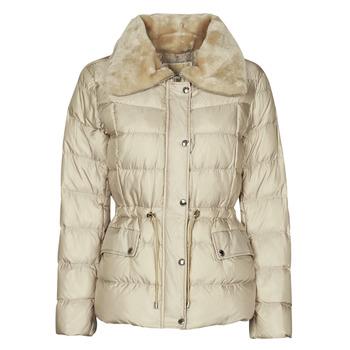 Clothing Women Duffel coats MICHAEL Michael Kors ECO FX FUR CLLR PUFFER Ivory