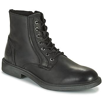 Shoes Men Mid boots Jack & Jones JFW KARL LEATHER BOOT Black