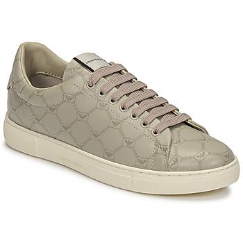 Shoes Women Low top trainers Emporio Armani DANSSE Beige / White