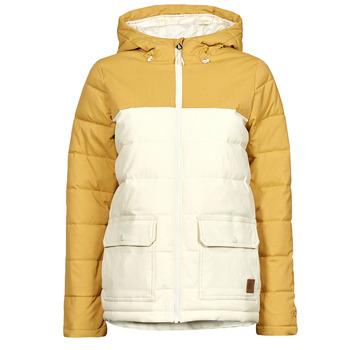 Clothing Women Duffel coats Rip Curl ANTI SERIES RIDGE JACKET Beige / Mustard