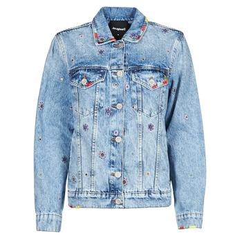 Clothing Women Denim jackets Desigual JULIETA Blue
