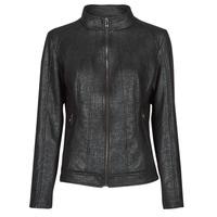 Clothing Women Leather jackets / Imitation leather Desigual COMARUGA Black