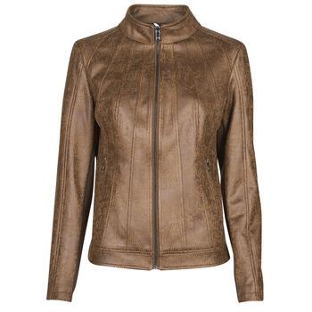 Clothing Women Leather jackets / Imitation leather Desigual COMARUGA Brown