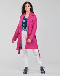 Clothing Women Coats Desigual RUBI Pink