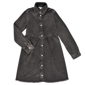 Clothing Girl Short Dresses Pepe jeans FLORIDA DRESS Black