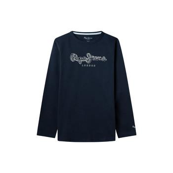 Clothing Boy Long sleeved tee-shirts Pepe jeans ALDO Marine