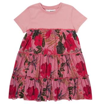 Clothing Girl Short Dresses Desigual ZAFIRO Pink