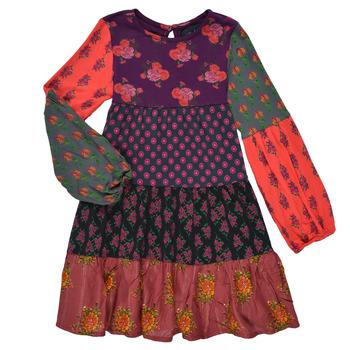 Clothing Girl Short Dresses Desigual CELIA Multicolour