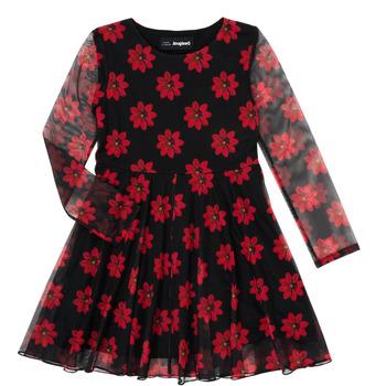 Clothing Girl Short Dresses Desigual ALICIA Multicolour