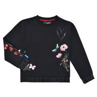 Clothing Girl Sweaters Desigual ALICIA Black