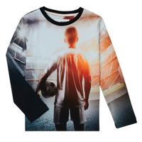 Clothing Boy Long sleeved tee-shirts Desigual FOOTBALL Grey