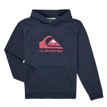 Clothing Boy Sweaters Quiksilver BIG LOGO YOUTH Marine