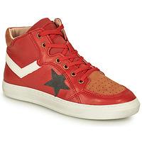 Shoes Boy Hi top trainers Bisgaard ISAK Red