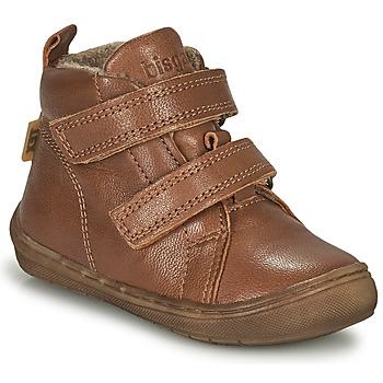 Shoes Boy Hi top trainers Bisgaard DEE Cognac