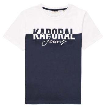 Clothing Boy Short-sleeved t-shirts Kaporal JILEY White