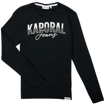 Clothing Boy Long sleeved tee-shirts Kaporal JODLE Black