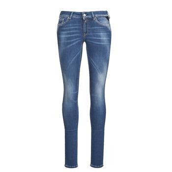 Clothing Women Skinny jeans Replay LUZIEN Blue / Dark