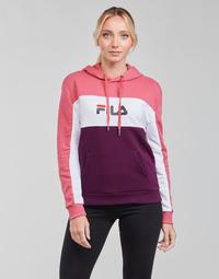 Clothing Women Sweaters Fila AQILA HOODY Pink / White / Purple
