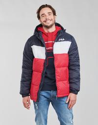 Clothing Men Duffel coats Fila SCOOTER PUFFER JACKET Red / Marine / White